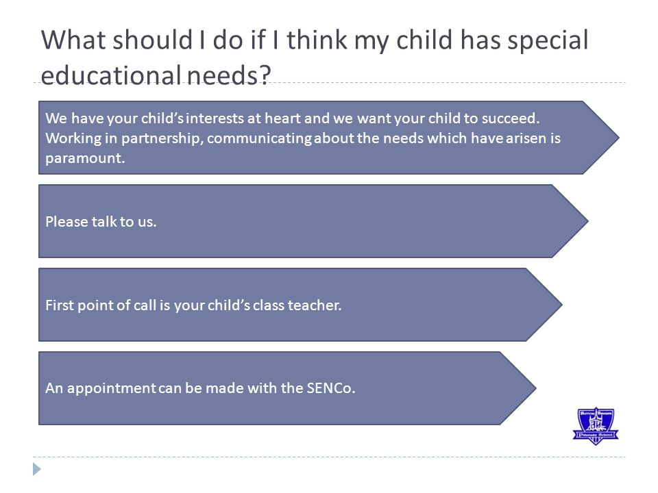 What should I do if I think my child has special educational needs.