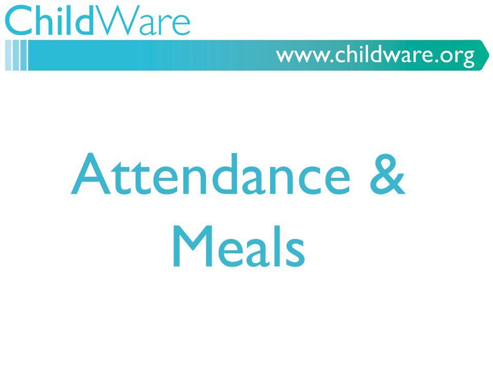 Attendance & Meals