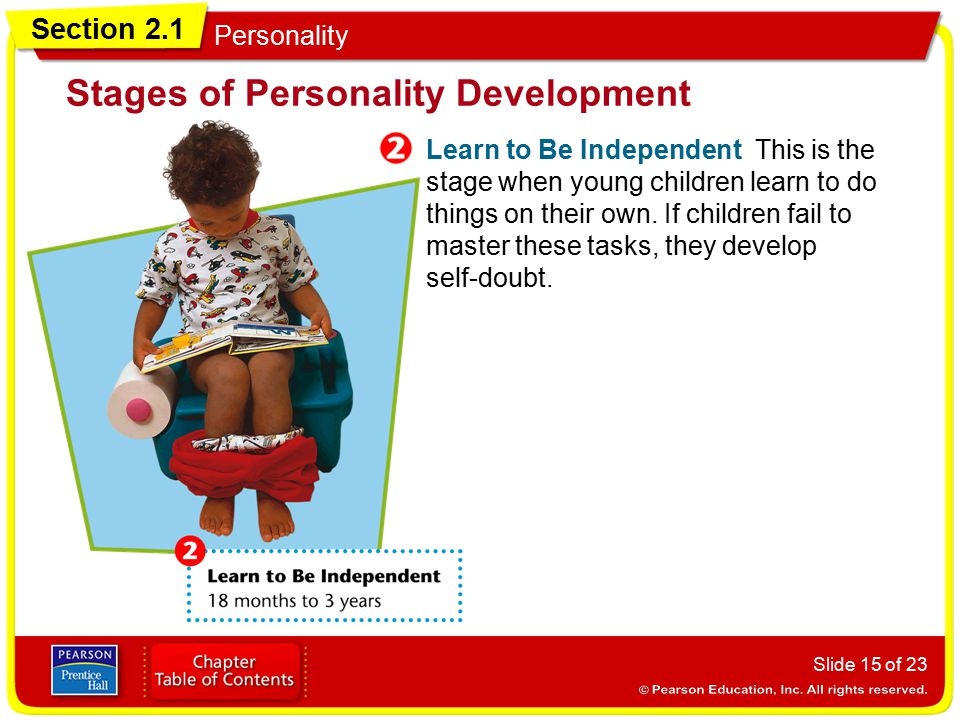 Section 2.1 Personality Slide 16 of 23 Take Initiative During this stage, children start to plan their own activities.