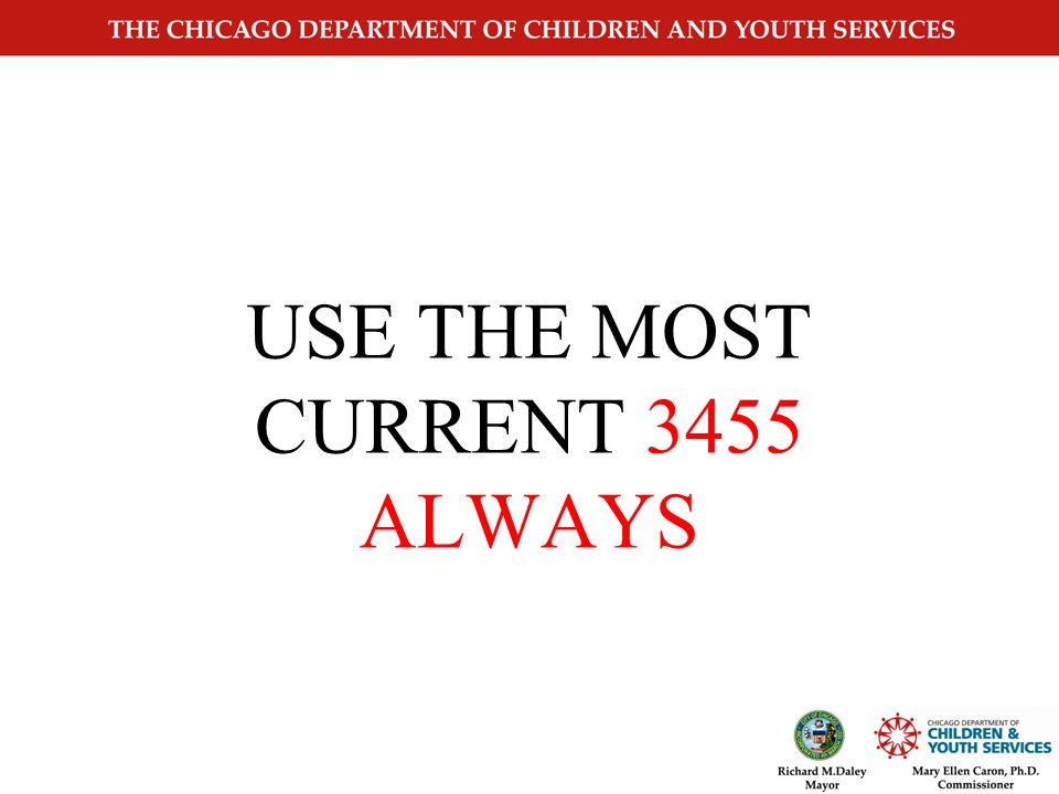 CYS3455 Changes Page 1 Required for COPA Ethnicity Educational Level Employment Status Revision Date