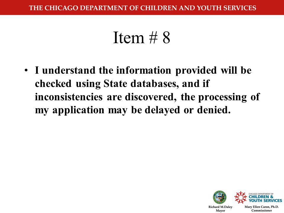 CYS3455 Changes Page 3 Applicant Certification Items 8,9,10