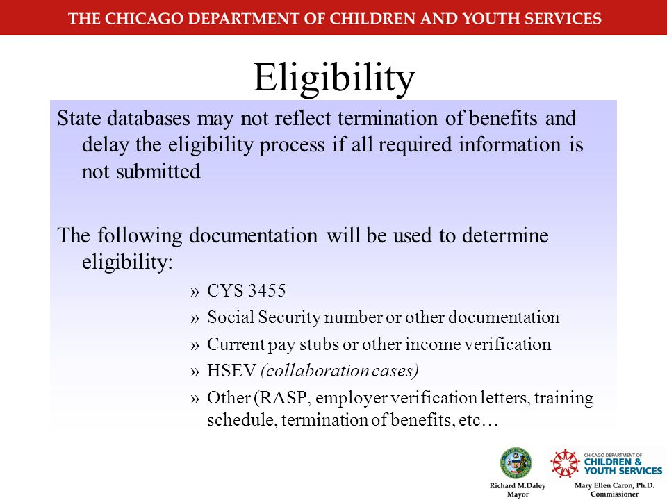 Verification Child Care providers must… post and distribute all Child Care Program requirements to new and existing clients ensure that clients have been informed of and read items #8,9,10 on page 3 under Applicant Certification gather all information from clients that will determine child care eligibility notify clients of their right to appeal