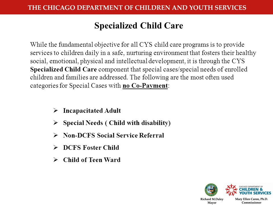 Specialized Child Care