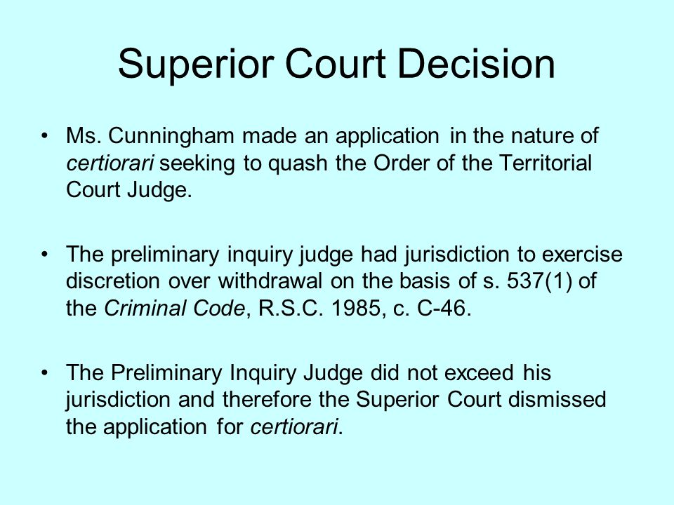 The Court of Appeal Decision The Court of Appeal allowed the appeal, finding that the trial judge had no discretion to refuse withdrawal on the basis that: (a) the Law Society has the primary interest in lawyer regulation and court oversight would create a conflict between the court's decision and disciplinary action by the Society; (b) there is a potential threat to solicitor-client privilege in the case the court asks for the reasons for withdrawal; and (c) compelled representation potentially places the client's best interests and the lawyer's interests in conflict.