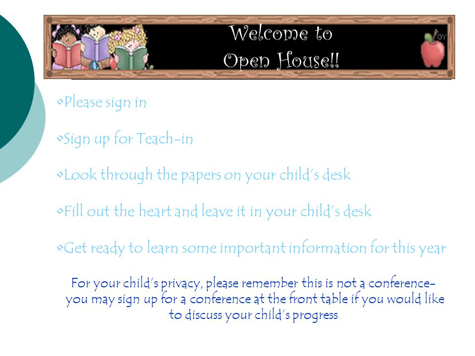 Welcome to Open House!.