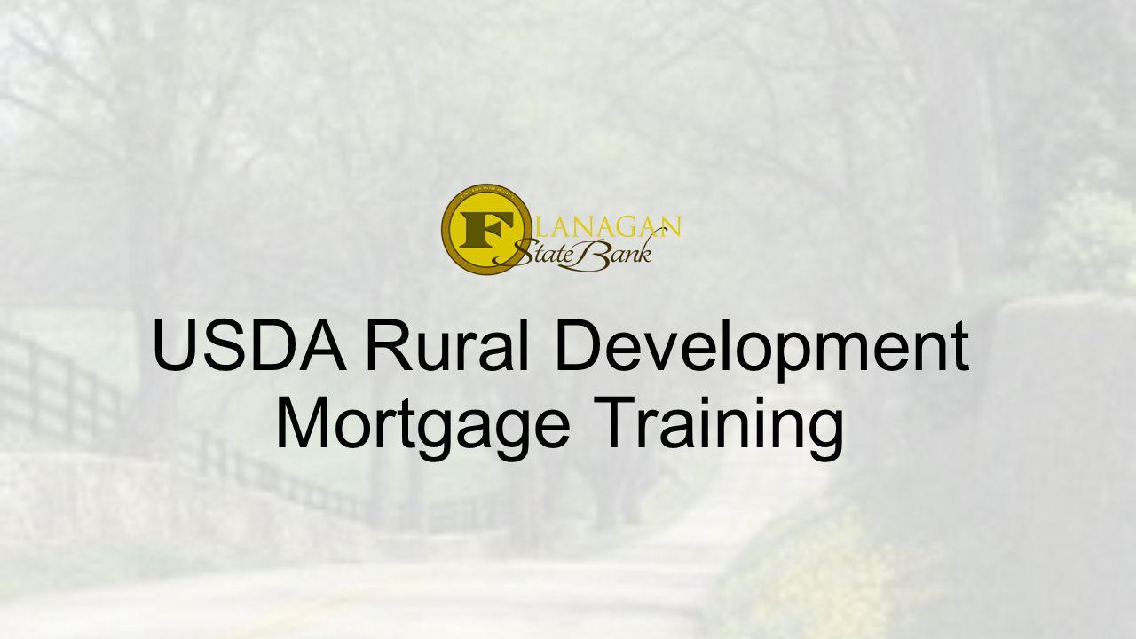 Why use a USDA Loan.