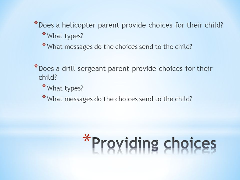 * How do your answers reflect your parental Beliefs.