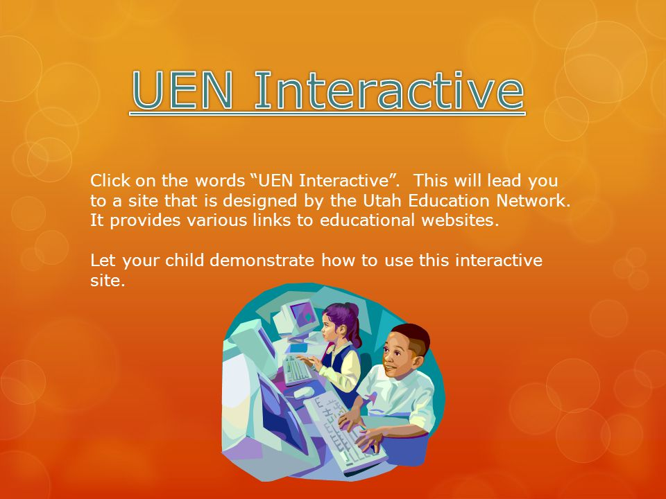Click on the words UEN Interactive .