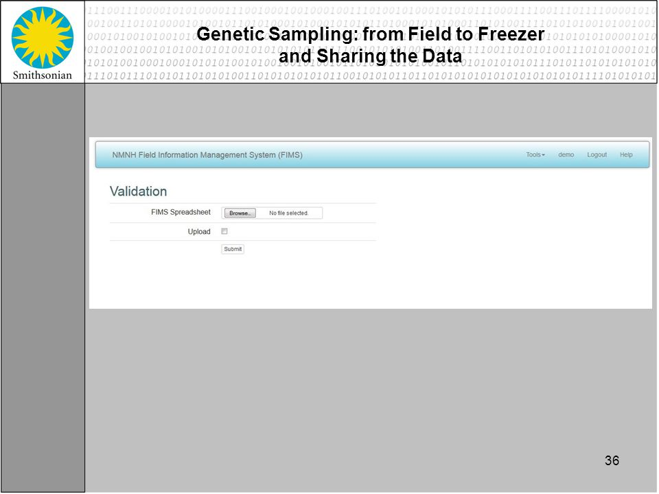 36 Genetic Sampling: from Field to Freezer and Sharing the Data