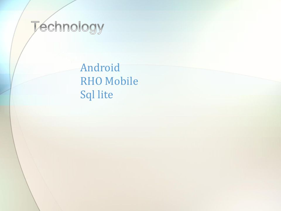 Android RHO Mobile Sql lite