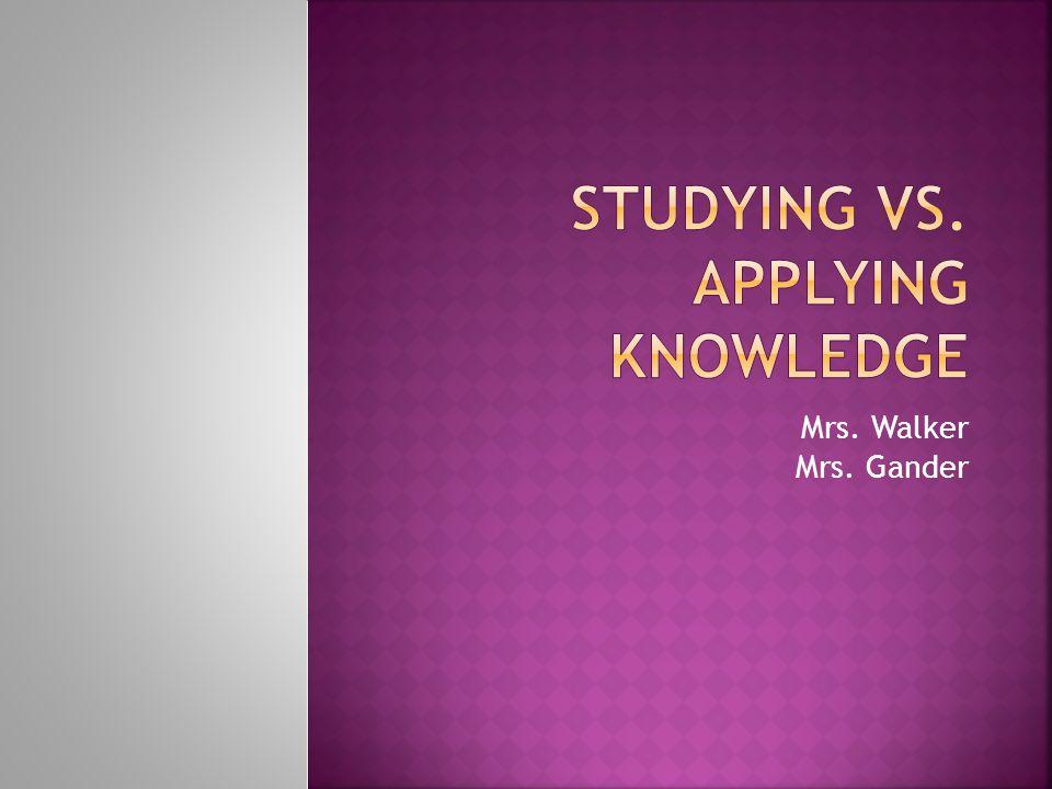 Mrs. Walker Mrs. Gander