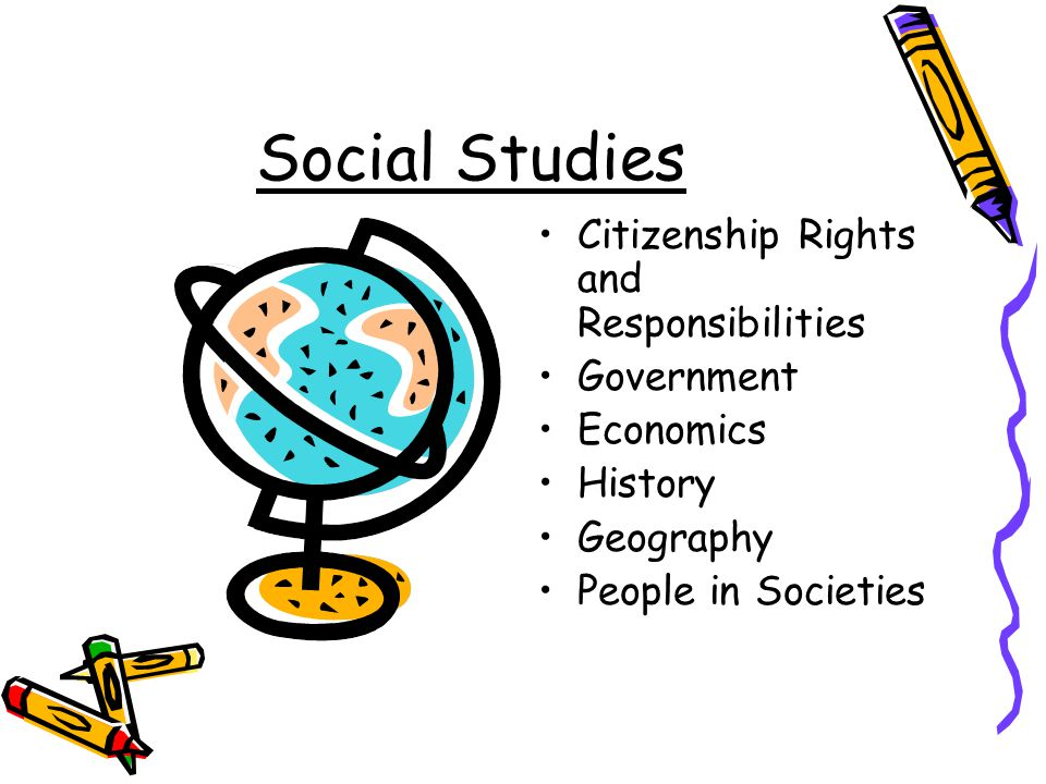 Social Studies Citizenship Rights and Responsibilities Government Economics History Geography People in Societies