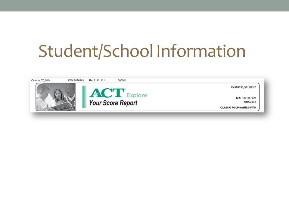 Student/School Information