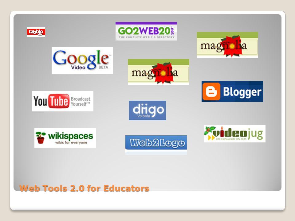 Web Tools 2.0 for Educators