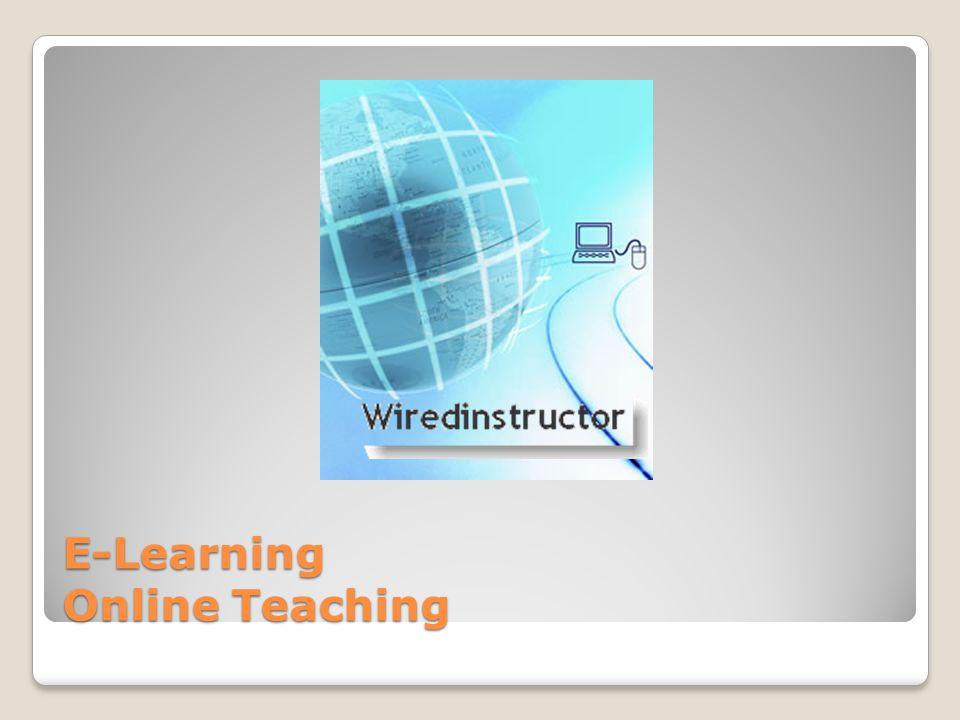 E-Learning Online Teaching
