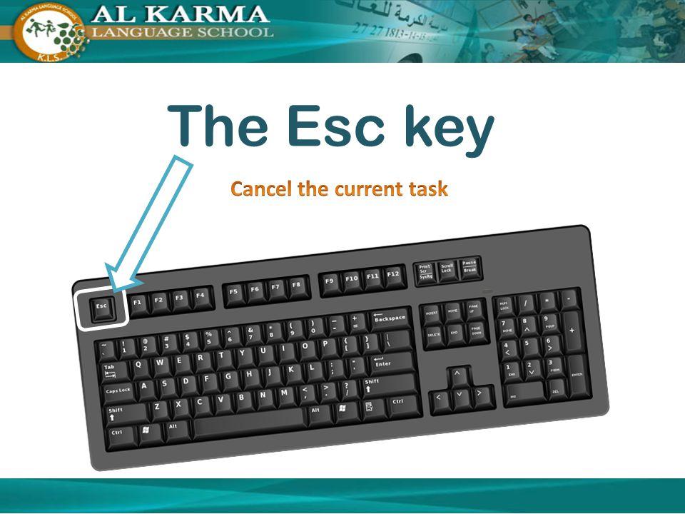 The Esc key