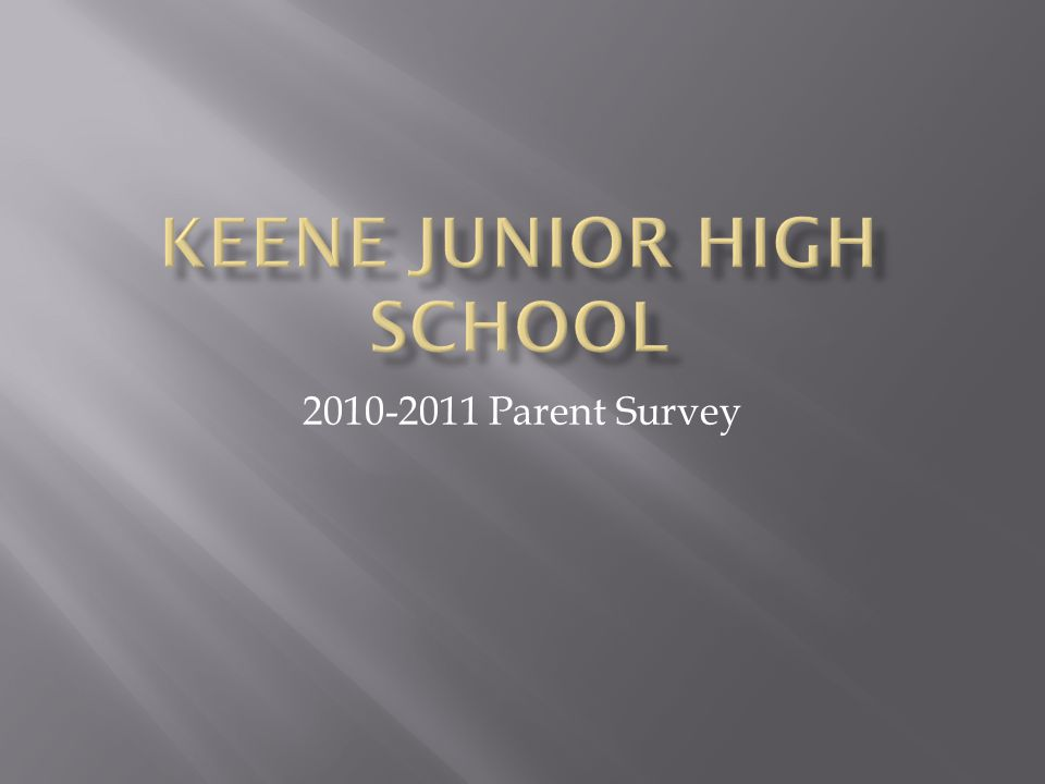 In an effort to get feedback from the parents of our students, a survey was conducted at the end of the first six weeks.