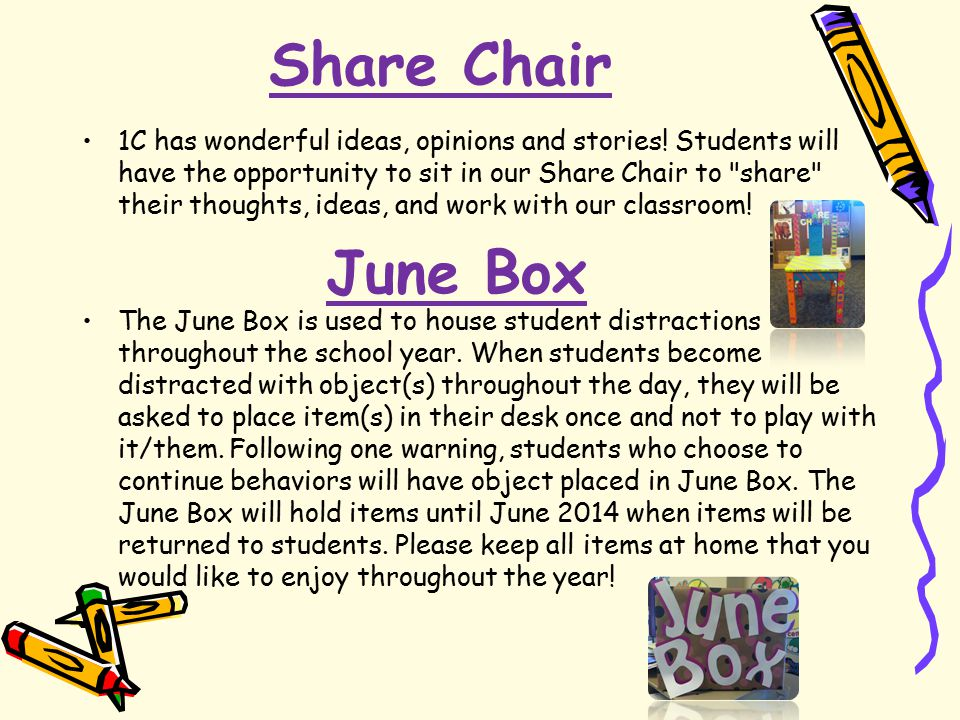 Share Chair 1C has wonderful ideas, opinions and stories.