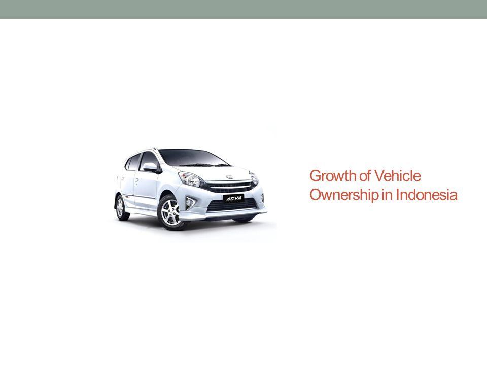 Growth of Vehicle Ownership in Indonesia