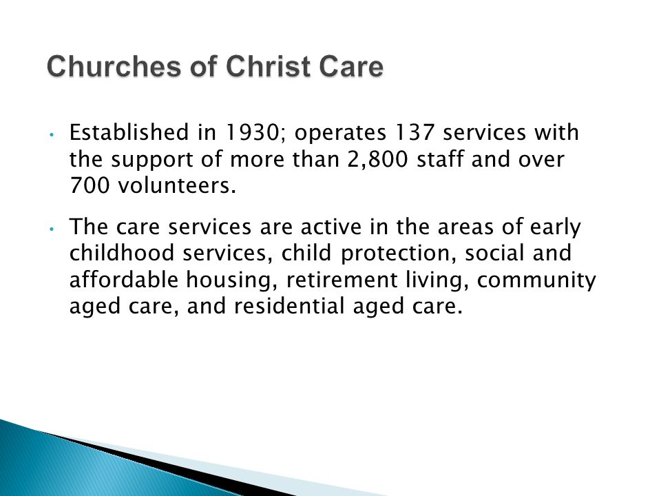 Established in 1930; operates 137 services with the support of more than 2,800 staff and over 700 volunteers.