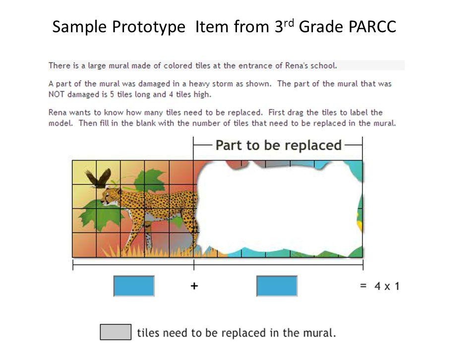 Sample Prototype Item from 3 rd Grade PARCC