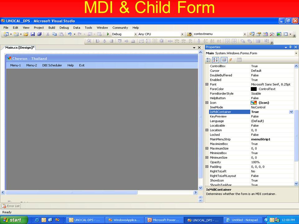 MDI & Child Form
