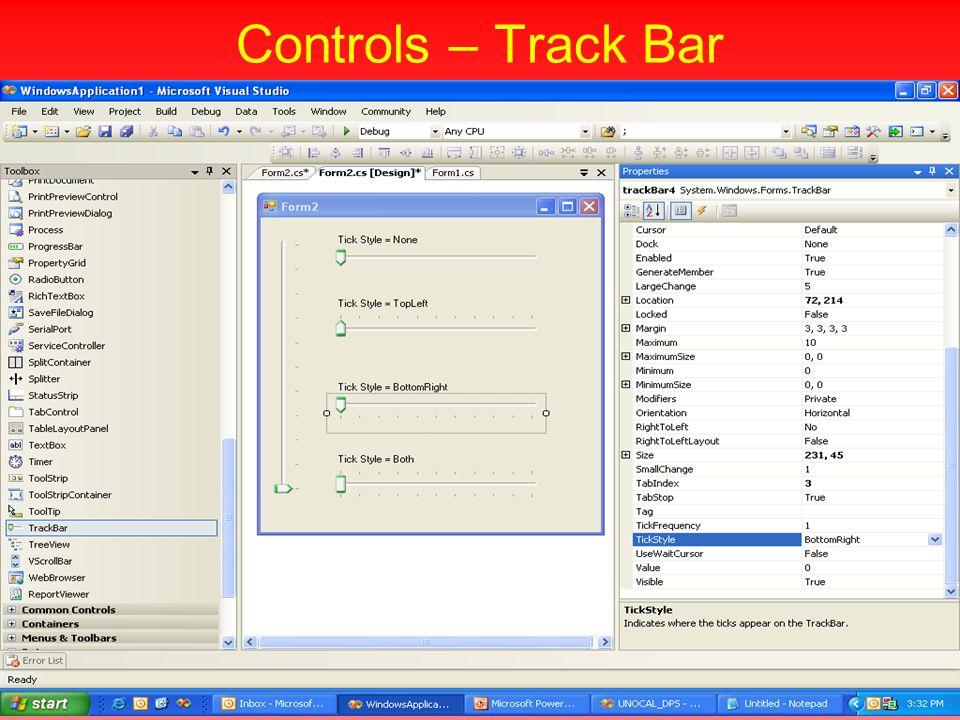 Controls – Track Bar