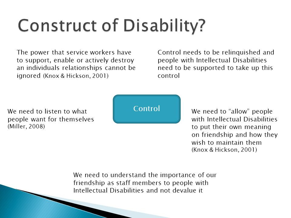 Control People With Intellectual Disability Staff & Families Service Delivery & Priorities Community Integration