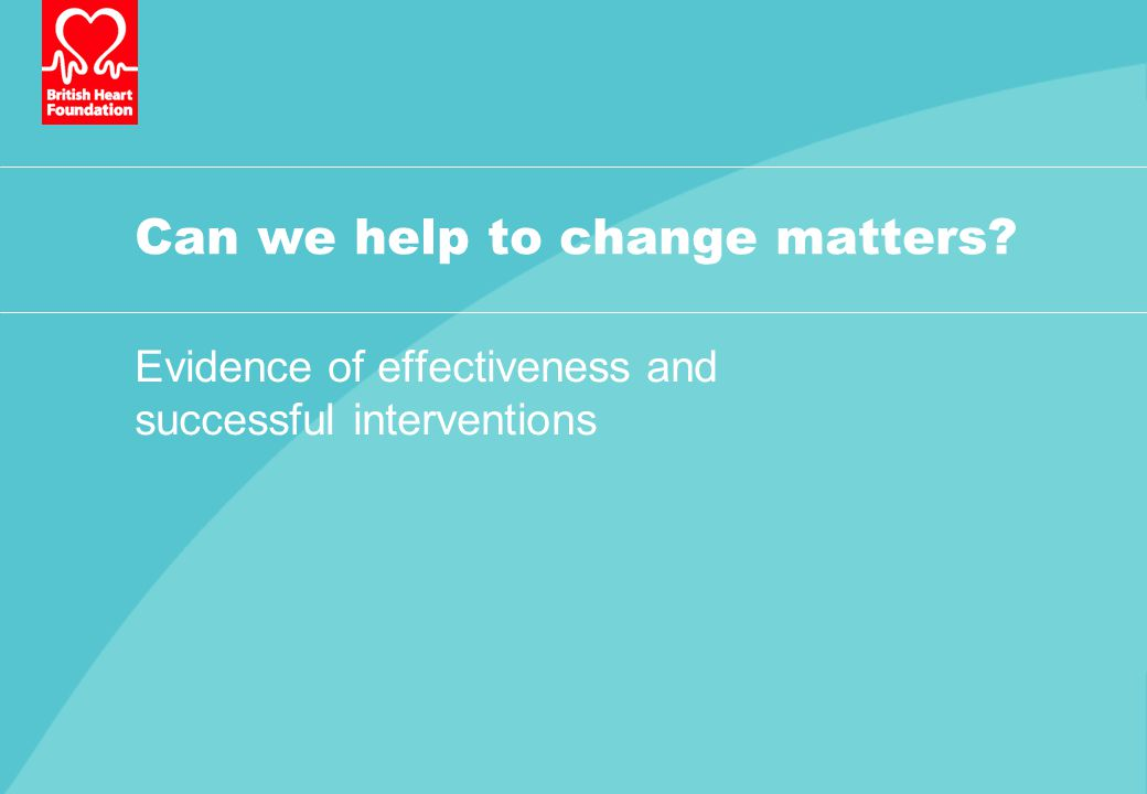 Can we help to change matters Evidence of effectiveness and successful interventions