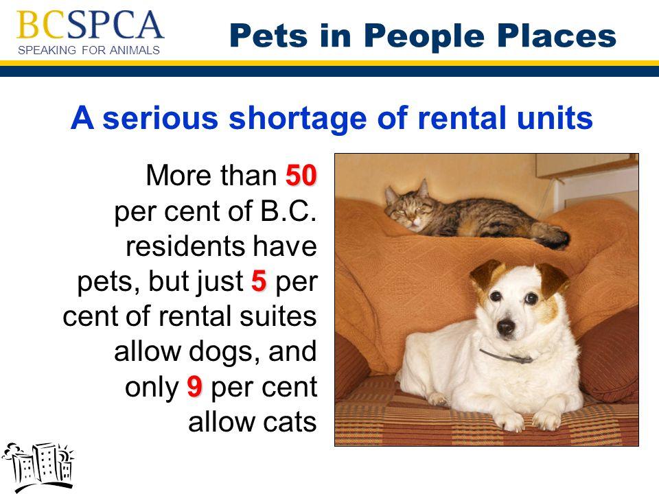 SPEAKING FOR ANIMALS Pets in People Places For Tenants:  Pet resumé – Tenants should list pet's achievements and attributes on a pet resumé.