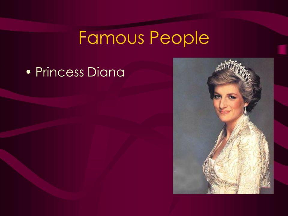 Famous People Princess Diana