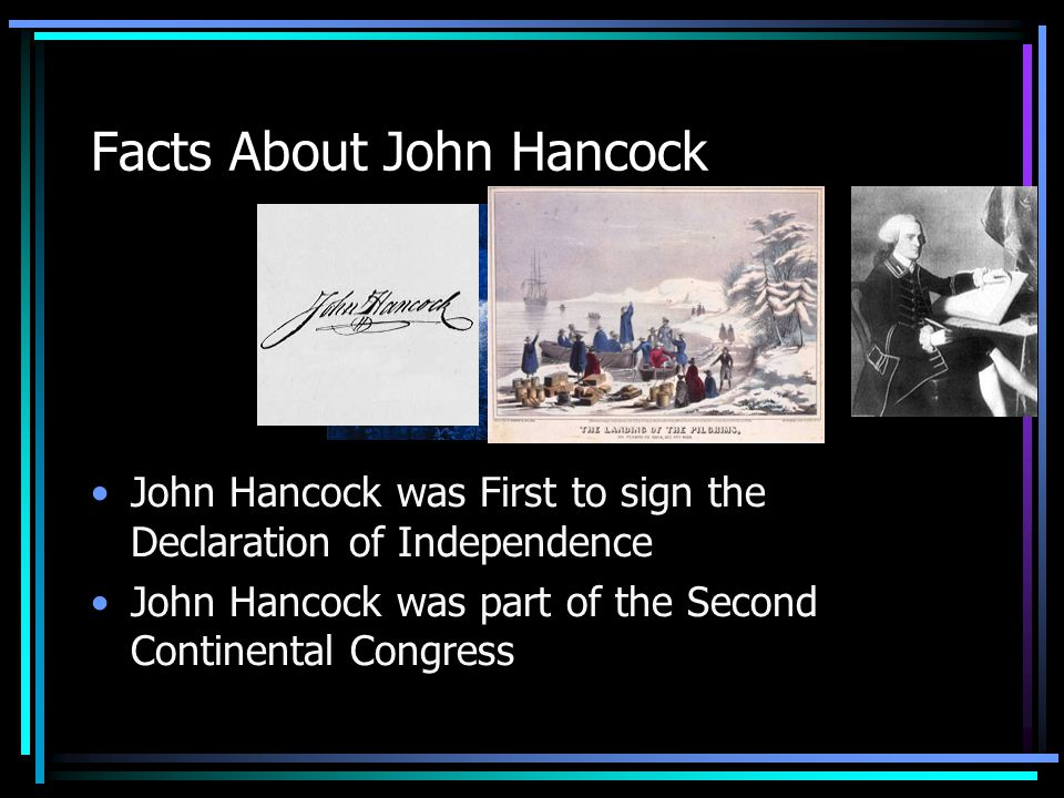 John Hancock Researched By: Claire