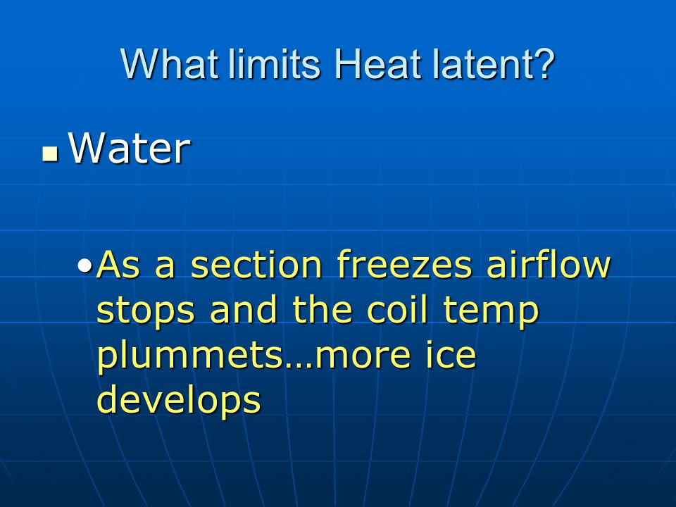 What limits Heat latent.