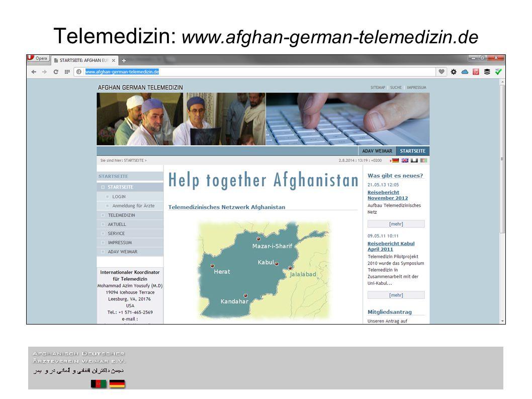Telemedizin: www.afghan-german-telemedizin.de