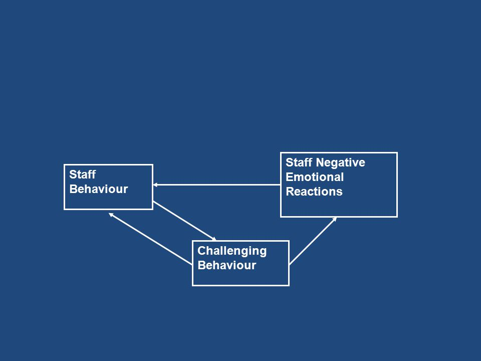 Staff Behaviour Challenging Behaviour Staff Negative Emotional Reactions