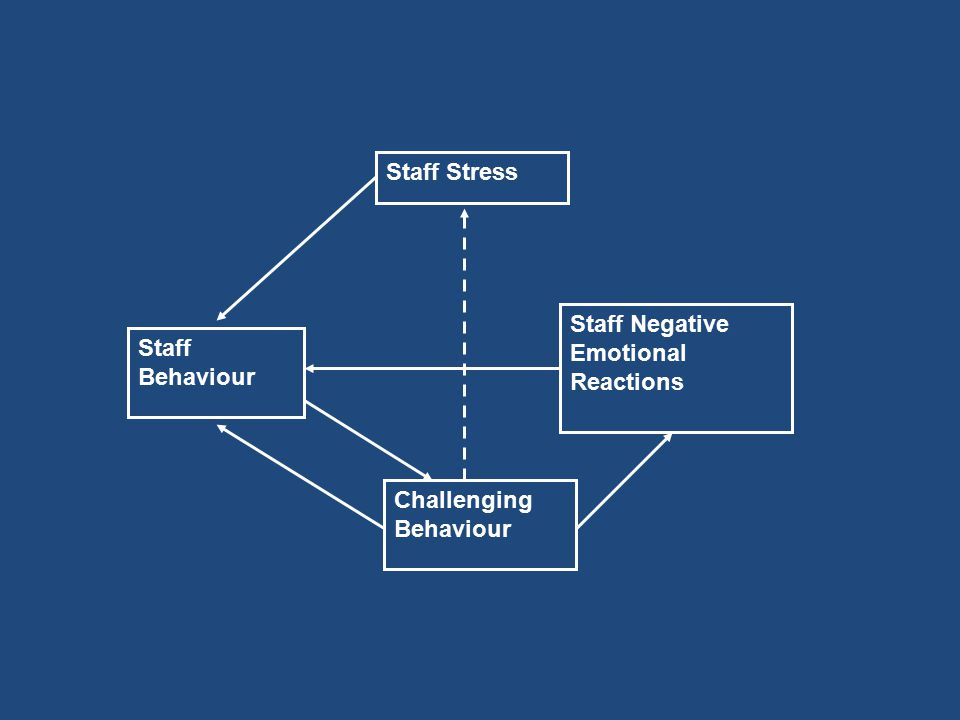 Staff Behaviour Challenging Behaviour Staff Negative Emotional Reactions Staff Stress