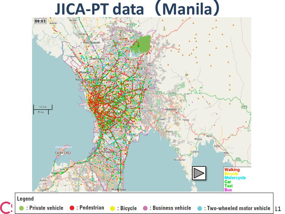 JICA-PT data ( Manila ) 11