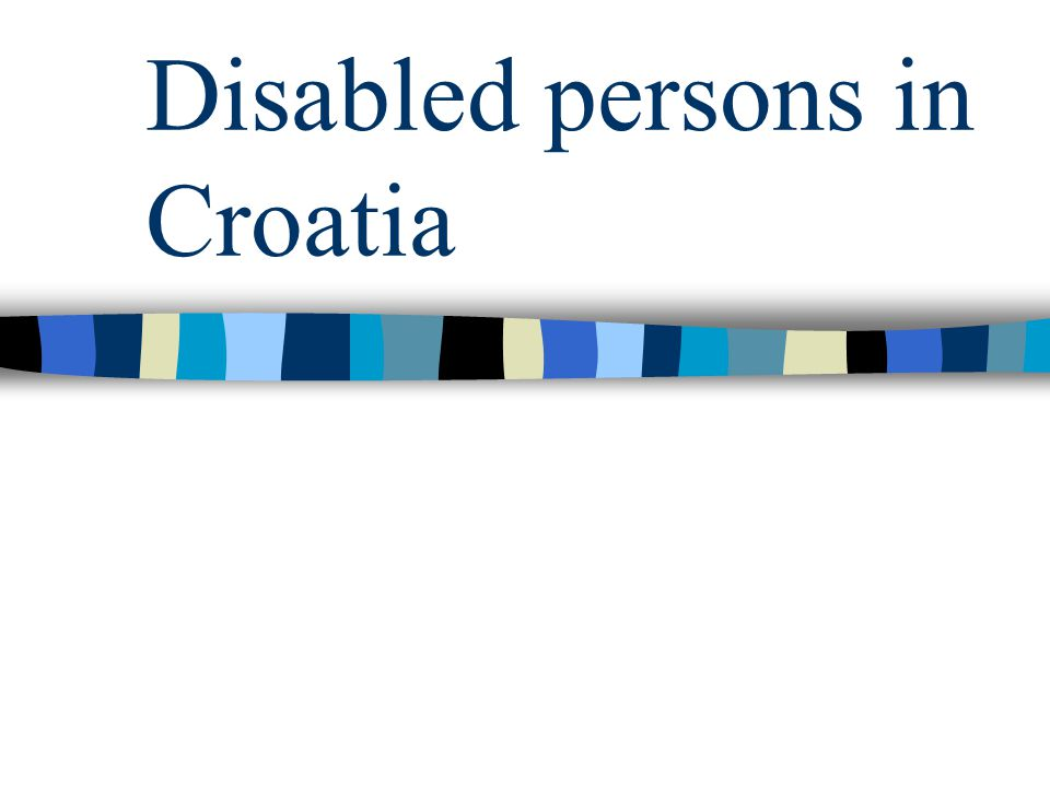 Disabled persons in Croatia