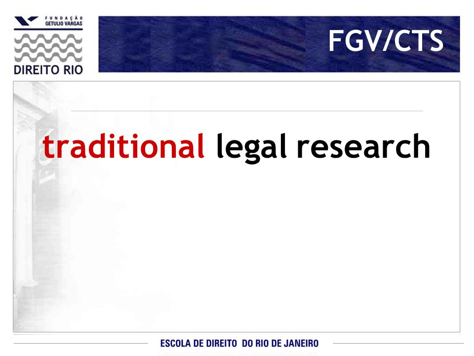 traditional legal research