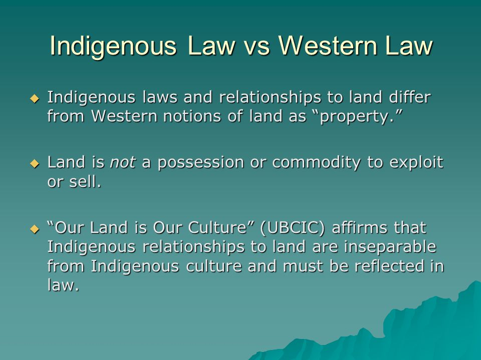 Canadian Laws Against Indigenous People  Passage of Time That Aboriginal Title died of old age. It did not exist anymore because it was in the past and too much time had passed for Aboriginal Title and Rights (as declared in Royal Proclamation) to be valid.