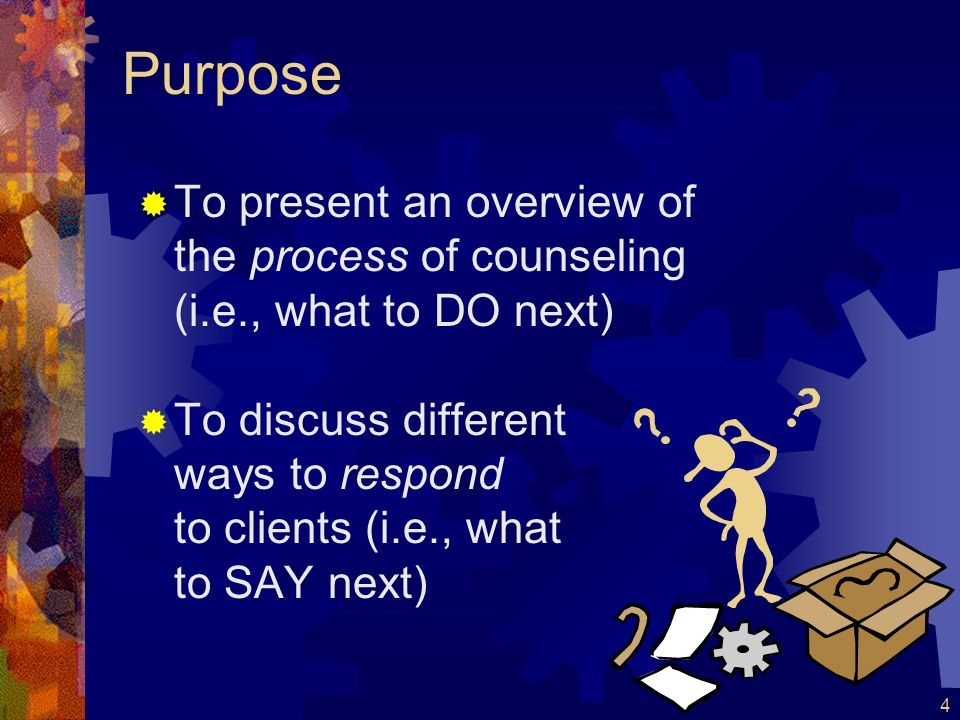 5 Defining Counseling  What IS counseling.