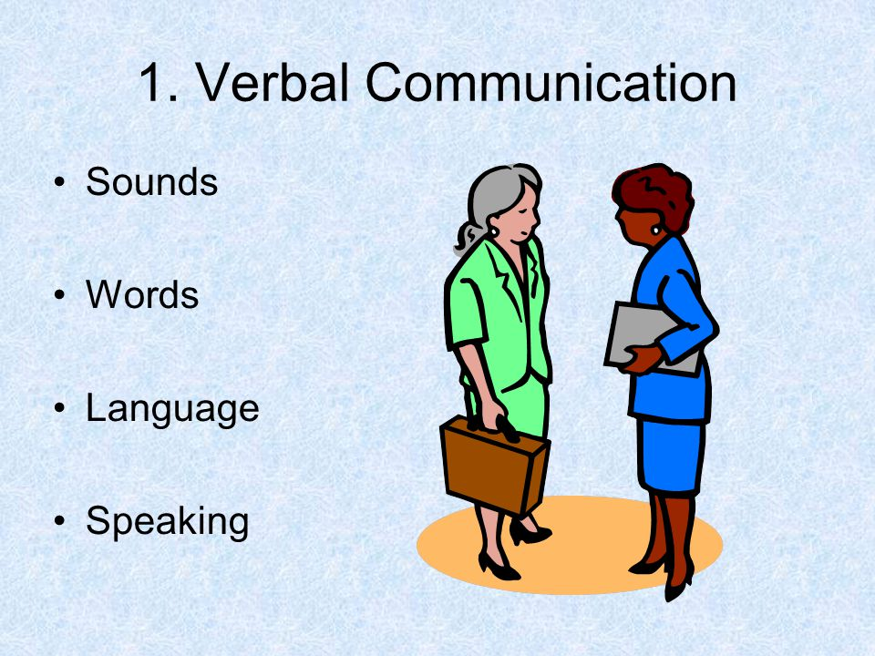 1. Verbal Communication Sounds Words Language Speaking