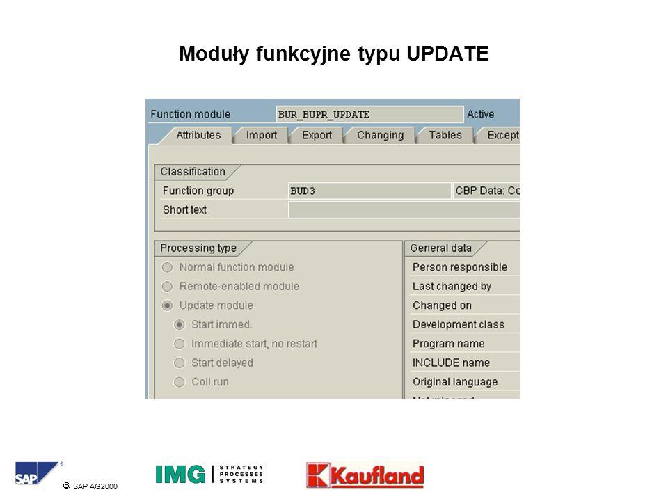  SAP AG2000 Moduły funkcyjne typu UPDATE