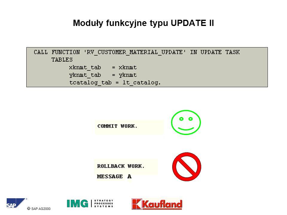  SAP AG2000 Moduły funkcyjne typu UPDATE II