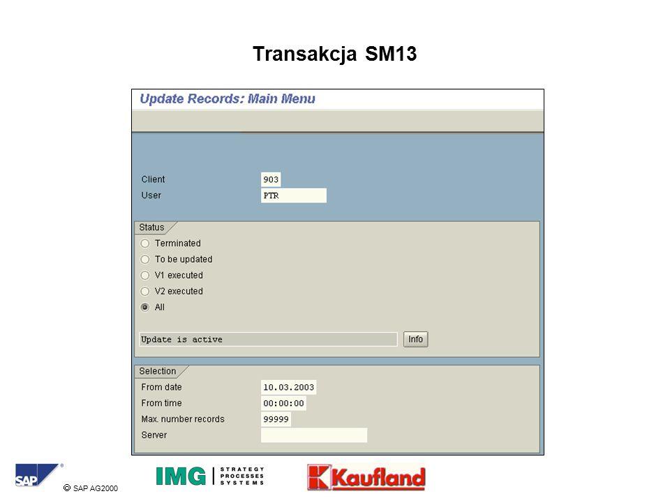  SAP AG2000 Transakcja SM13