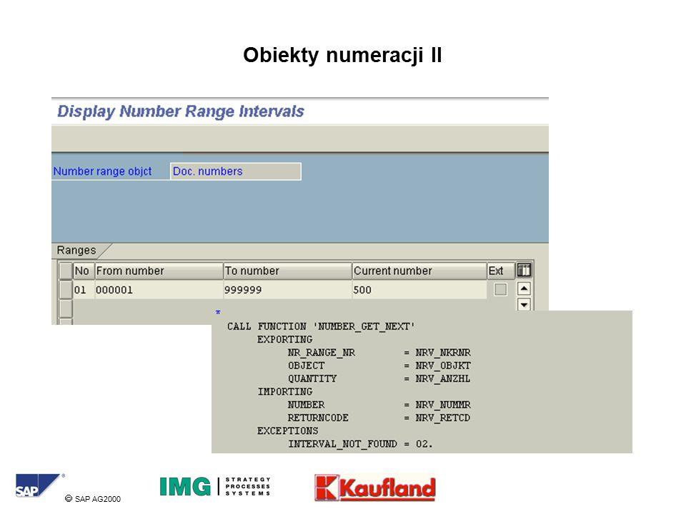  SAP AG2000 Obiekty numeracji II