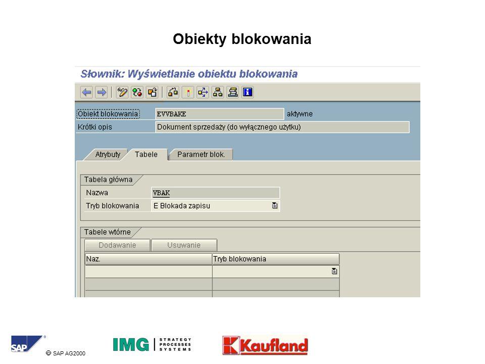  SAP AG2000 Obiekty blokowania