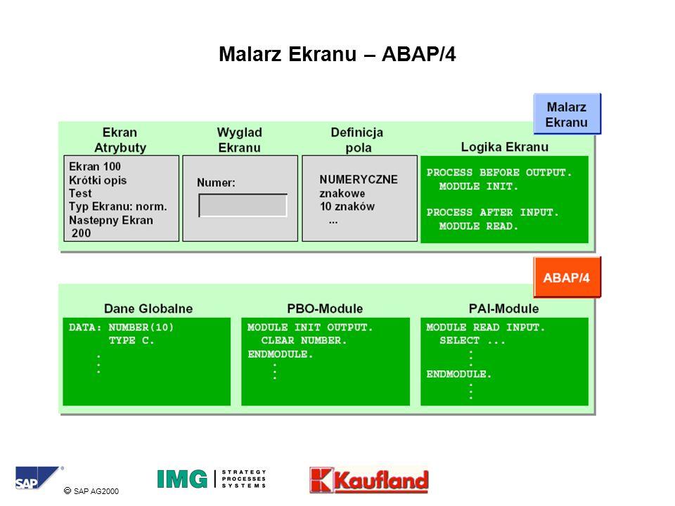  SAP AG2000 Malarz Ekranu – ABAP/4