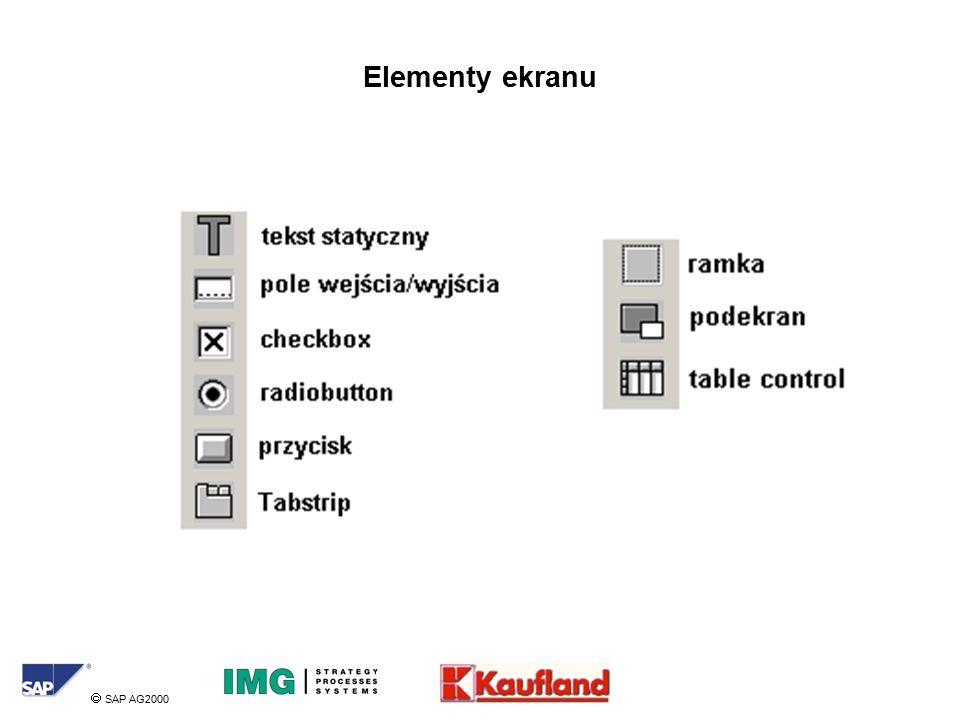  SAP AG2000 Elementy ekranu