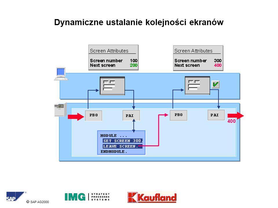  SAP AG2000 Dynamiczne ustalanie kolejności ekranów